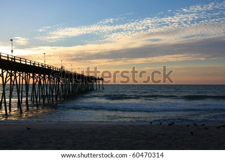 Early Morning at Kure beach Pier, NC