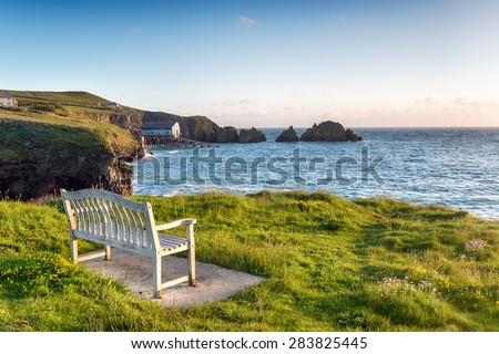 Early morning at Long Cove near Padstow in Cornwall - stock photo