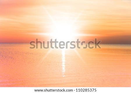 Early Morning Glowing - stock photo