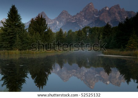 Early Morning Grand Reflection of Grand Teton National Park