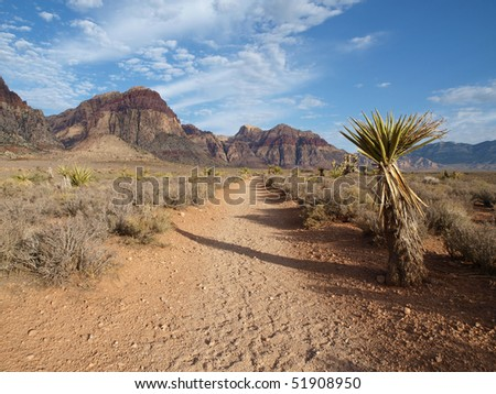 Early morning light at Red Rock national Recreation area. - stock photo