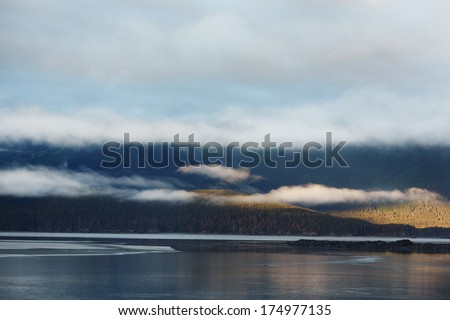 Early Morning Low Clouds - Turnagain Arm, Anchorage, Alaska, USA