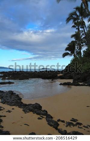 Early Morning Maui From Secret Beach - stock photo