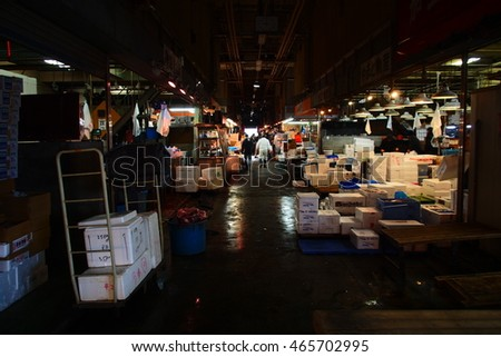 Early morning of Chiba Fish Market