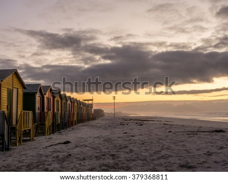 Early morning on False Bay beach in South Africa - 3