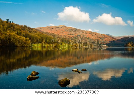 Early morning on Grasmere, Cumbria - stock photo