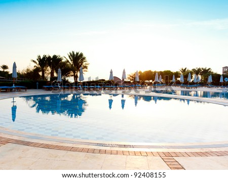Early Morning Pool - stock photo