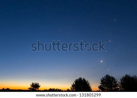 early morning sky - stock photo