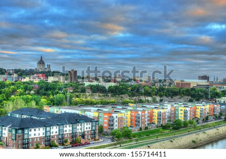 Early morning St Paul, MN  - stock photo