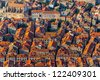 Early morning sunrise - panorama with Dubrovnik old city. Location Croatia - Europe. - stock photo