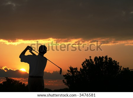 Early Morning Tee Time - stock photo