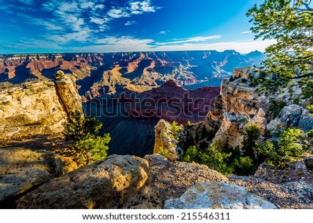 Early Morning View of the Magnificent Multi-colored Grand Canyon in Arizona - stock photo