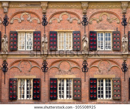 Early renaissance details in a historic building - stock photo
