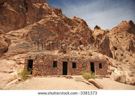 Early Settler's Cabins - stock photo
