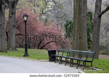 Early spring in Central Park New York City - stock photo