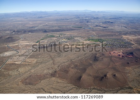 Early stages of a planned living community off the 303 northwest of Phoenix, Arizona - stock photo