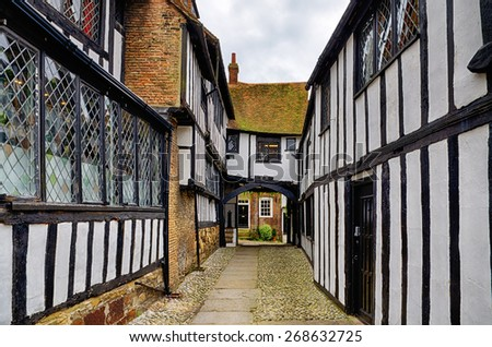 Early Tudor building in Rye. - stock photo