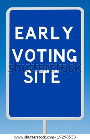 Early Voting Sign - stock photo