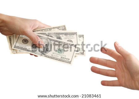 Earnest money - stock photo