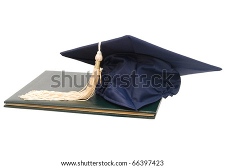 Earning a degree from graduation day - stock photo