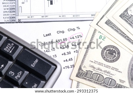 earnings from trading on the stock exchange . - stock photo