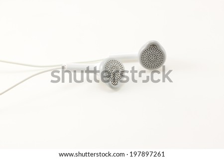 earphone on paper background