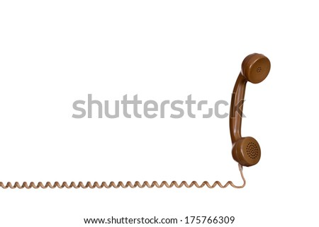 earpiece of old phone - stock photo