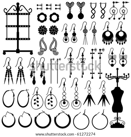 Earring Jewelery Female Girl Woman Accessories Fashion - stock photo