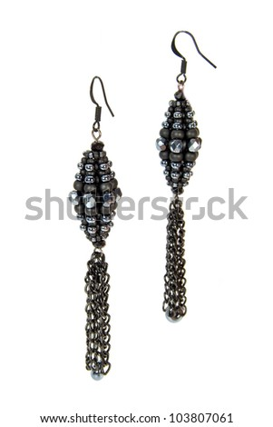 Earrings made of colorful beads