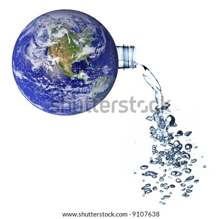 earth - a water planet concept - stock photo