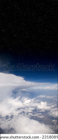Earth and Stars - stock photo
