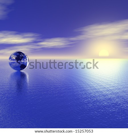 Earth and sun. Business concept. - stock photo