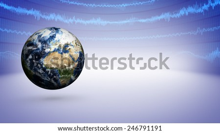 Earth Business Concept Background, Elements of this image furnished by NASA - stock photo