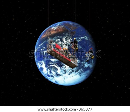Earth cleaners - stock photo