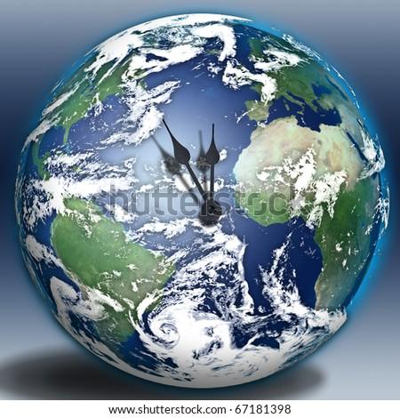 Earth Clock - stock photo