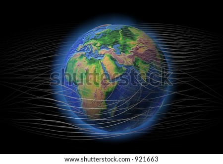 Earth connected - stock photo