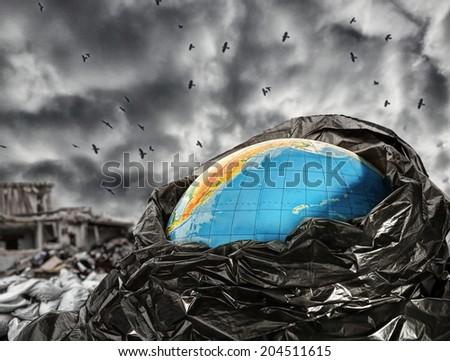 Earth contamination - stock photo