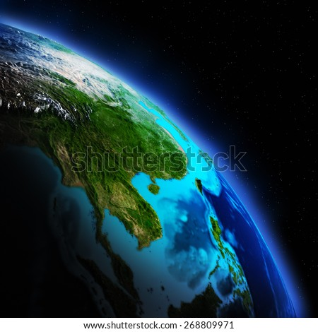 Earth continent. Elements of this image furnished by NASA - stock photo