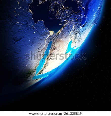 Earth continents. Elements of this image furnished by NASA - stock photo