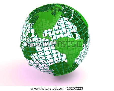 Earth. 3d - stock photo