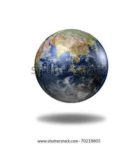 Earth 3D model. Data source: NASA - stock photo