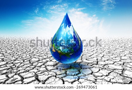 Earth day concept.Elements of this image furnished by NASA. United Nations Climate Change Conference,drought,shortage of water,lack of rain,severe drought - stock photo