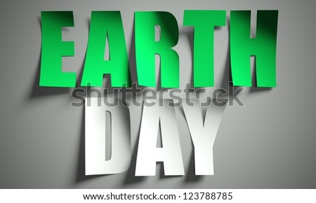 Earth day cut from paper, background - stock photo