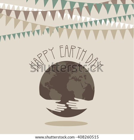 Earth day design.  - stock photo