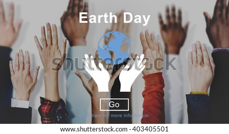 Earth Day Environmental Conservation Nature Planet Concept - stock photo