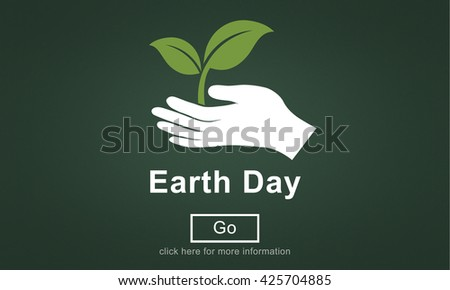 Earth Day Environmental Conservation Website Online Concept - stock photo