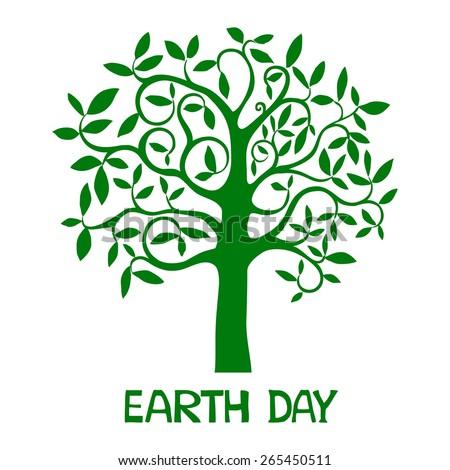 Earth day.  Illustration - stock photo