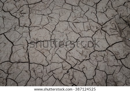 earth, Dried out land in drought - stock photo