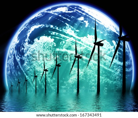 Earth ecological technology - stock photo