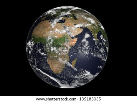 earth, Elements of this image furnished by NASA - stock photo